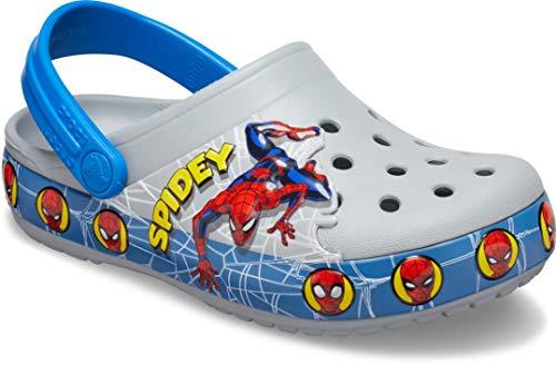 Crocs Superhero Clog   Light Up Shoes, Spiderman/Grey, 12 US Unisex Little Kid