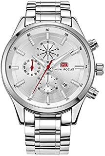 Mini Focus Mens Quartz Watch, Chronograph Display and Stainless Steel Strap - MF0081G.02