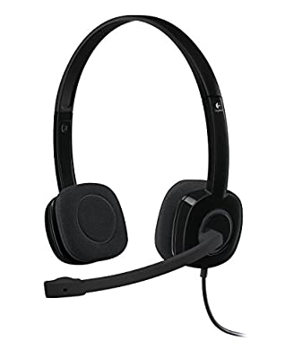 Logitech H151 Wired Headset, Stereo Headphones with Rotating Noise-Cancelling Microphone, 3.5 mm Audio Jack, In-Line Controls, PC/Mac/Laptop/Tablet/Smartphone - Black from Logitech