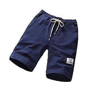 ZKOO Suelto Cortos Pantalones Cargo Hombre Bermuda Cortos con Multi-Bolsillo Verano Outdoor Corto Pantal/ón Algod/ón Deporte Shorts Ocio