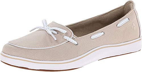 Grasshoppers Women's Windham Slip-On, Stone, 8 W US
