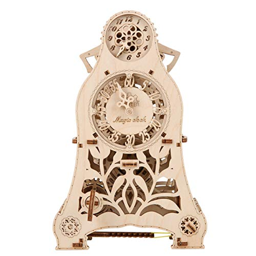 Wooden Model Kits to Build, Mechanical Pendulum Clock, 3D Wooden Puzzle DIY Model Kits for Adults Teens and Children, Ideal Christmas and New Year Gift, Gorgeous Home Décor