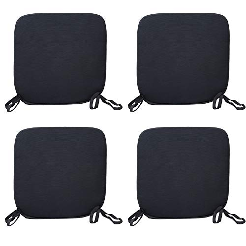 CB CASABELLA 4 Removable Elegant Chair Pads Seat Pads for Home Dining Room Kitchen Office Garden Patio 38X38 Cm D-grey Chairpads Seatpads With ties