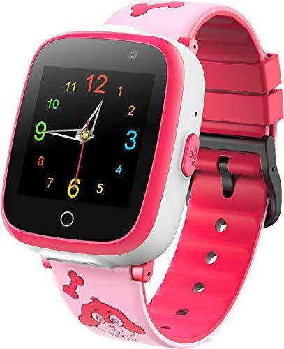 Orologio Intelligente per Bambini - Smartwatch per Lettore di Giochi Musicali con Videoregistratore 2 Camara 6 Gioco Sveglia SOS 1.54 Touch Screen HD per 3-14 Ragazzi Ragazze Regalo