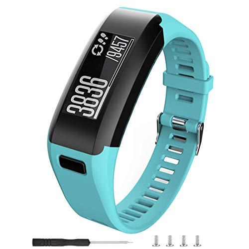 BossBlue for Garmin Vivosmart HR Replacement Bands,Soft Silicone Replacement Band for Garmin Vivosmart HR Watch (Teal, Small)