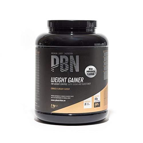 PBN Premium Body Nutrition Bote de ganador de peso, 3 kg, sabor Galleta, sabor optimizado