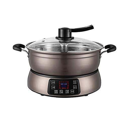 FYRMMD Vaporera eléctrica Inteligente multifunción, Olla Caliente eléctrica de elevación Completamente automática de 6L para cocinar Utensilios de Cocina de arroz