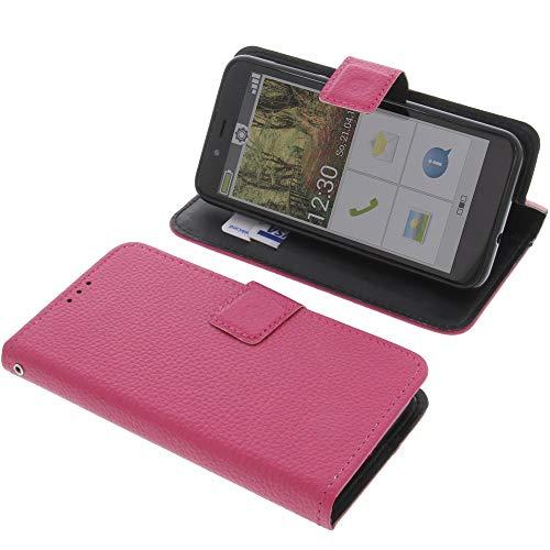 foto-kontor Tasche für Emporia Smart 3 Mini Book Style pink Schutz Hülle Buch