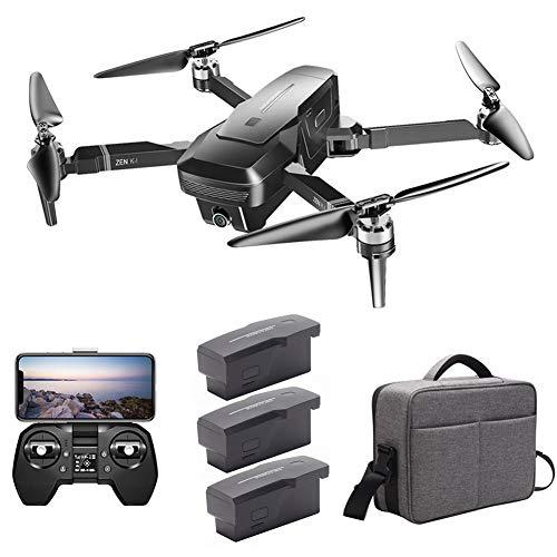 Euopat Drone,Drone Plegable GPS con Cámara, Quadcopter con Motor Sin Escobillas 28Min Flight 5G WiFi HD FPV Cámara Dual 50X Zoom Control De Aplicación De Gestos para Visuo Zen K1