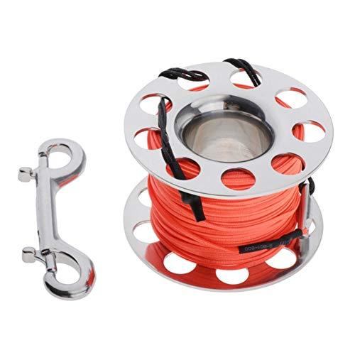 IGOSAIT Agradable 50m Buceo Snorkeling Dedo Carrete Carrete de la Gancho de Buceo Equipo Accesorios Gear Cómodo (Color : Orange)