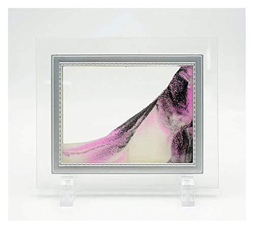 Jszzz 3D Dynamische Glas Photo Frame Sand Bild Abstrakt bewegen Sand Sandscapes Sand Malerei for...