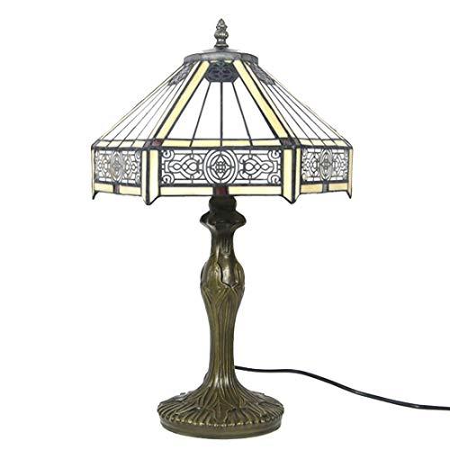 ZH1 Lampe Tiffany, Lampe De Bureau, Lampe De Bureau Vintage, W12H18 inch Lampe pour Le Salon Chambre Style Simple, Art De Décoration De Noël pour Les Enfants,Jaune