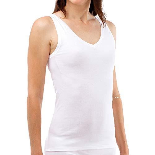 SCHÖLLER Damen Achselhemd I 3er Pack I Damen Unterhemd I 51010-44-500 I Größe 38 I Farbe Weiß