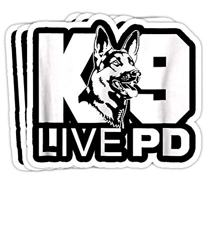 DKISEE A Set of 3 Bumper Sticker Police Dog - German Shepherd - Live PD - K9 Decal - M02844