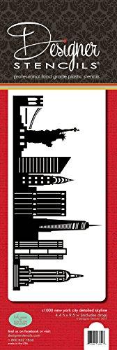Designer Stencils Kuchenschablone, New Yorker Skyline, C1000