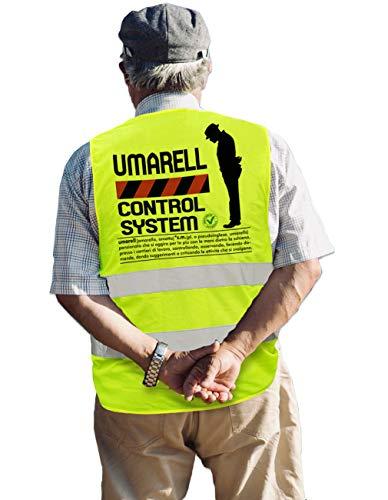 Bombo Gilet Regalo per la Pensione Umarell Control System, Giubbino Fluorescente per Festeggiare Il pensionamento di Un Amico.