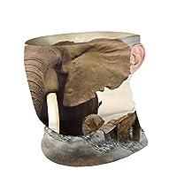 Elephant Love 象の愛 ネックカバー バンダナ 秋 冬 防寒 暖かい チューブ型 ネックウォーマー フェイスカバー 多機能 耳かけ式 冷感 日よけ Uvカット吸汗速乾 アウトドア活動 男女兼用
