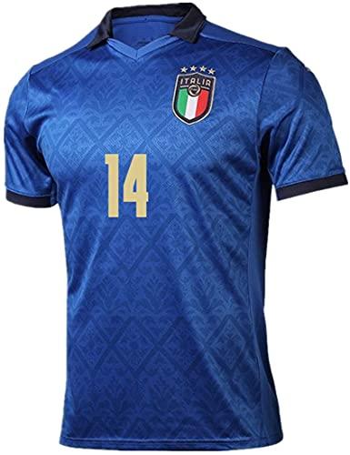 MINIDORA FIGC Italia Maglia da Calcio Nazionale Calcio Maglia per Uomo Adulto Maschio 2021 UEFA Euro FIGC Italia Maglie da Calcio per Tifosi Lorenzo Insigne Paolo Rossi L(170-175cm,14 Chiesa