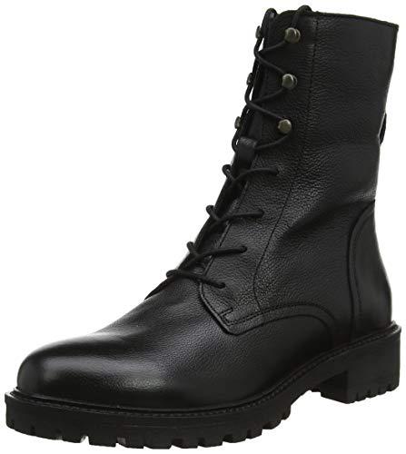 Geox Damen D HOARA E Biker Boots, Schwarz (Black C9999), 39 EU