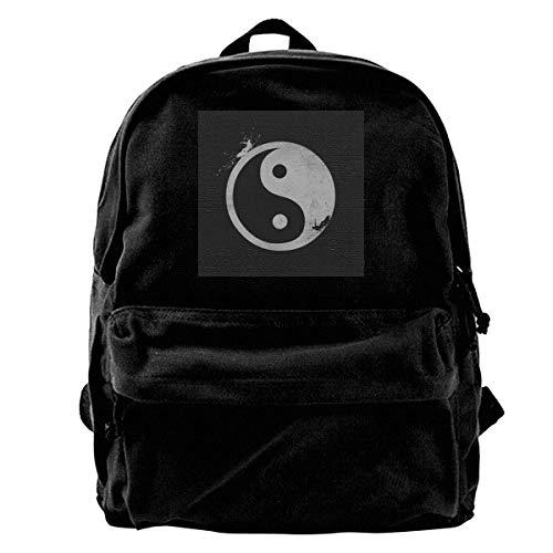 Zaino di tela Yin Yang Surfer Zaino esterno Palestra Escursionismo Borsa a tracolla per laptop Zaino per uomo Donna