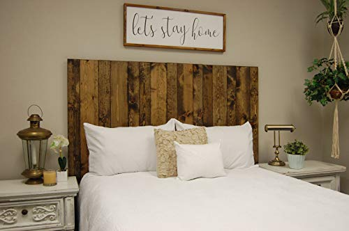 Visit the Dark Walnut Headboard King Size Stain, Hanger Style, Handcrafted. Mounts on Wall. Easy Installation on Amazon.