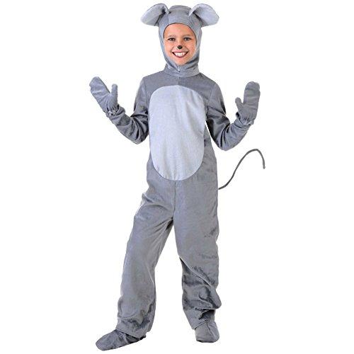 YFCH Traje de Disfraz Animal para Niños Niñas Pijama de Una Pieza con Capucha para Festival de Carnaval Halloween Navidad, Ratón, 2XL/Altura: 140-150cm