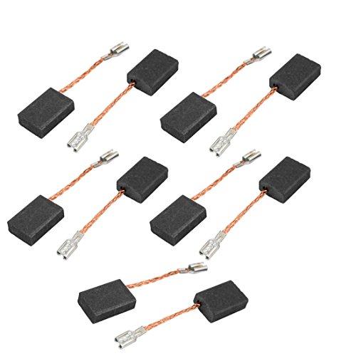 sourcingmap 5 paia elettrico Drill tool Spazzola di carbonio motore 5 x 10 x 15mm Senza molla