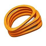 Model Worker 4PCS Wooden Oval Shaped Handles Replacement for Handmade Bag Handbags Purse Handles (Light Brown)
