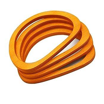 Model Worker 4PCS Wooden Oval Shaped Handles Replacement for Handmade Bag Handbags Purse Handles  Light Brown
