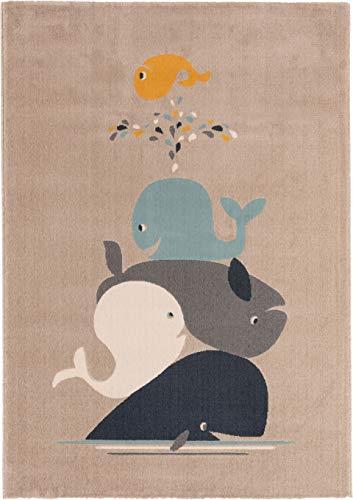 benuta KIDS Kinderteppich Juno Beige 160x230 cm - Teppich für Kinderzimmer, 4053894841798