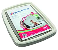 Puppy trainer starter kit large contains 1 tray + 7 pads of 60 x 45 cm Size : 62.5 x 48 x 4 cm