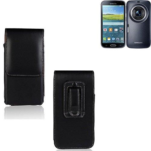 Für Samsung Galaxy K Zoom LTE Holster Gürtel Tasche Gürteltasche Schutzhülle Handy Tasche Schutz Hülle Handytasche Smartphone Hülle Seitentasche Vertikaltasche Etui Belt Bag Schwarz Für Samsung