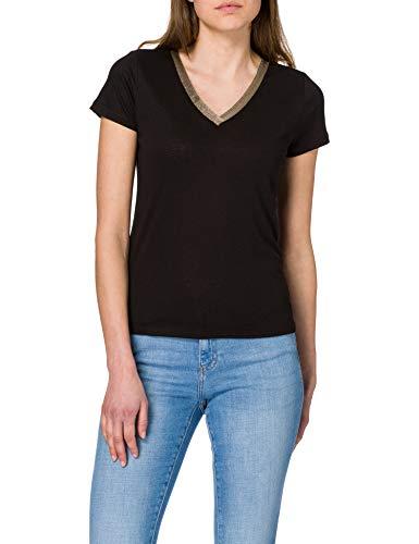Morgan T Shirt Dore Camiseta, Noir, TS para Mujer