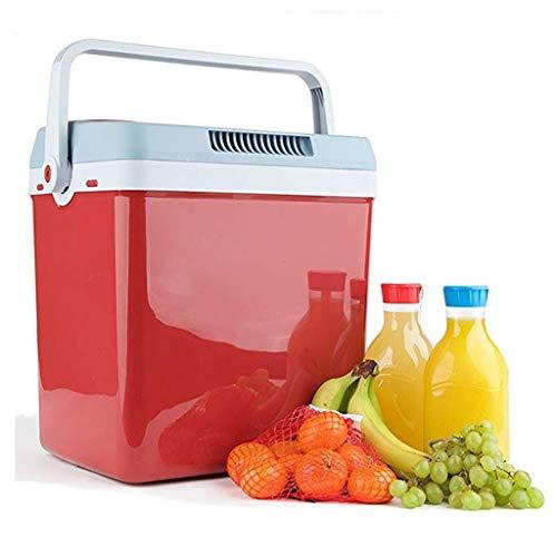 WLAY Kühlbox elektrisch zum Ziehen, Warmhaltebox groß 25/32 l, Kühltasche für Auto und Steckdose, 12v 220-240v, 40 cm hoch