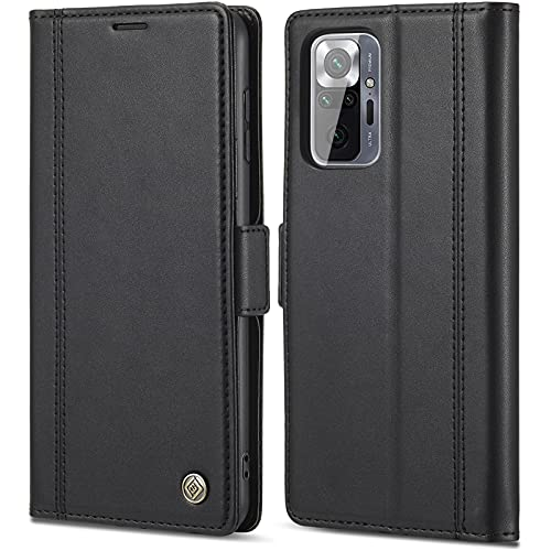 für Xiaomi Redmi Note 10 Pro Hülle Leder Handyhülle für Xiaomi Redmi Note 10 Pro Tasche Premium Flip Hülle Cover 360 Grde Stoßfest Schutzhülle für Redmi Note 10 Pro Hülle Klappbar Handytasche, 6.67