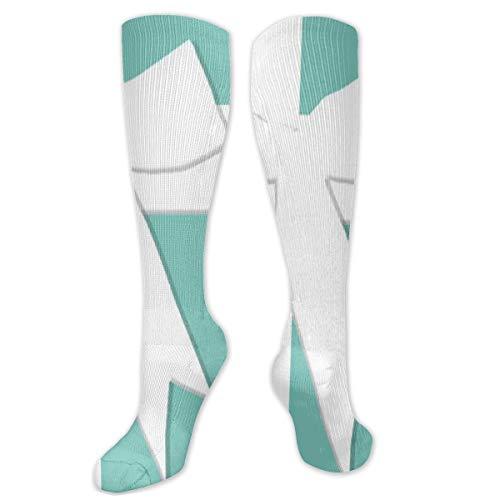 Funky Long Sock Christmas Gift -Blue Tiffanys Inspired Turquoise Please Return Designer