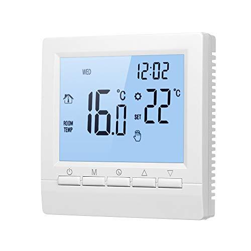 Termostato Intelligente,Termoregolatore Digitale,Settimana Programmabile LCD,Termostato per Riscaldamento a Pavimento Elettrico,Termostato con Funzione di Memoria-16A