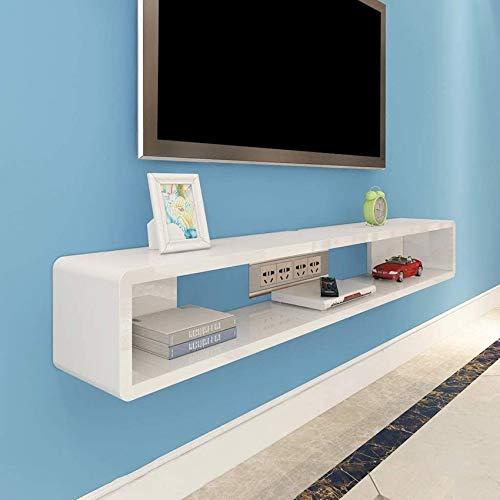 Zwevende wandplank TV-meubel TV-standaard Set-top boxplank TV-console Opbergeenheid Organisatorplank voor dvd-kabeldoos (kleur: wit, maat: 120 * 20 * 20cm)