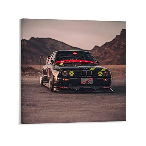 GUOHUI Póster de coches deportivos E30 M3 Lto Kit Lienzo Lienzo Cuadro Moderno Oficina Familiar Dormitorio Decorativo Carteles Regalo Decoración de Pared Pintura Poster