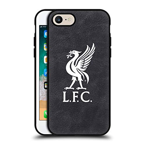 Head Case Designs Offizielle Liverpool Football Club Liver Bird Logo Schwarze Leder Rueckseiten Handyhülle Hülle Huelle kompatibel mit Apple iPhone 7 / iPhone 8 / iPhone SE 2020
