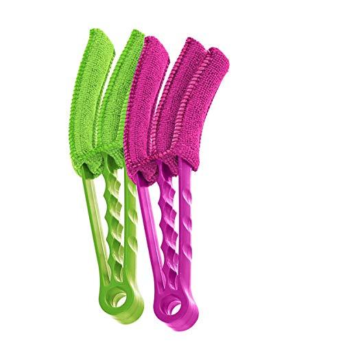 Blind Schoonmaakborstel,3 Lagen Afneembare Wasbare Stofzuiger Tool Roze & Groen 2 Stks