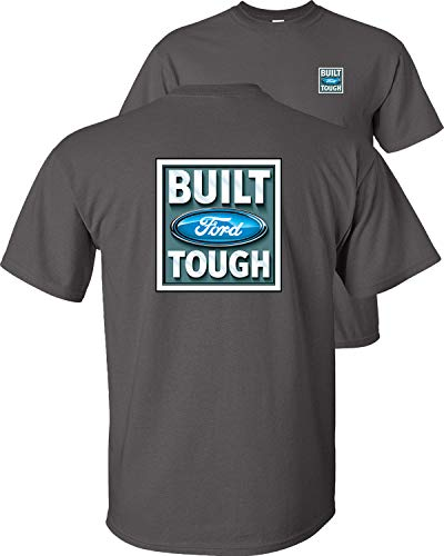 Fair Game Built Tough Logo Ford T-Shirt Adult Unisex-Charcoal-L