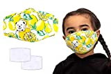Anti Pollution Child's Masks, Reusable Kids Colourful Face Masks, Comes With Replaceable Filters