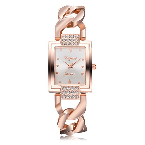 Neubula - Reloj de pulsera de cuarzo analógico para mujer, reloj de cuarzo con cronógrafo de lujo a la moda con correa de acero inoxidable, elegante regalo para negocios, casual y cumpleaños