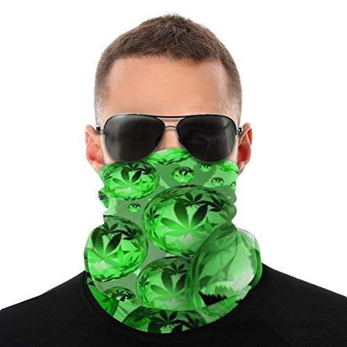 BIT Pot Weed Leaf Pattern Neck Leggings Warm Mask Scarf Windproof Breathable Fishing Hiking Running Cycling Ski Snowboarding