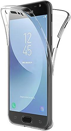 AICEK Coque Samsung Galaxy J3 2017, 360° Full Body Transparente Silicone Coque pour Samsung J3 2017 Housse Silicone Etui Case (5 Pouces SM-J330F)