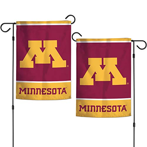"NCAA University Minnesota Gophers Goldy 12.5"" x 18"" Inch 2-Sided Garden Flag Logo"