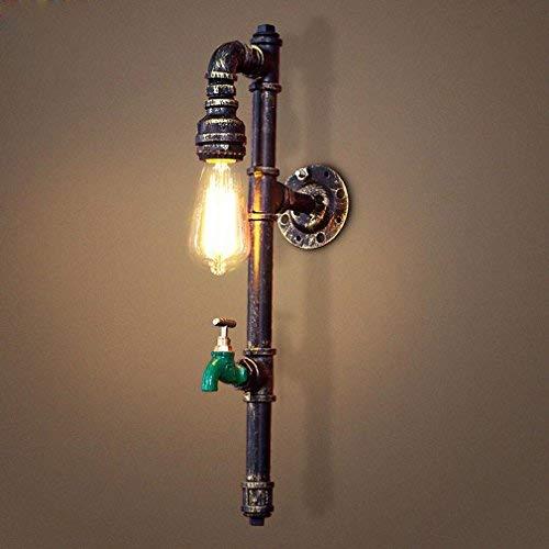 Vintage Wandbeleuchtung Kupfer Wasserleitung Lampenschirm Rustikale Wandleuchte Dekorative Wand Wirkung Korridor Lampe Für Schlafzimmer Küche Schrankbett Design Lichter Einzigen Kopf E27