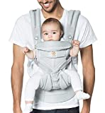 Ergobaby Carrier, Omni 360 All Carry Positions Baby Carrier with Cool Air Mesh,  Pearl Grey