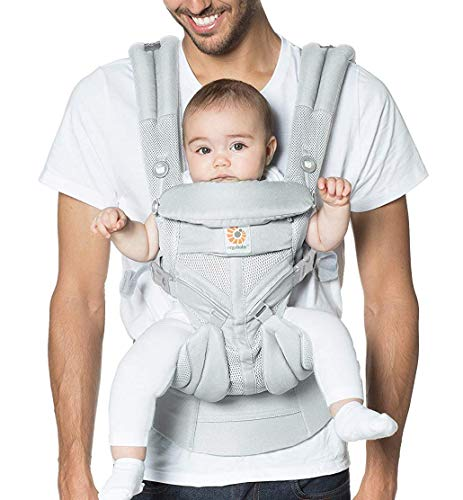 Ergobaby Omni 360 All-Position Baby Carrier for Newborn to Toddler with Lumbar Support and Cool Air Mesh (7-45 Pounds), Pearl Grey
